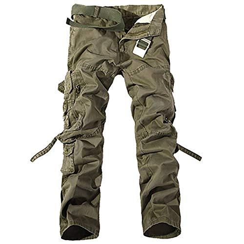 Jeans Pantaloni Cotone Marca Armygrün Cargo Tasca Uomo Moda tasca Mode Comoda Multi Morbida Di Con Ssig E Multi UgrUHq
