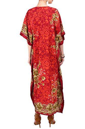 b99420a262 Kaftan Tunic Kimono Dress Ladies Summer Women Evening Maxi Party Plus Size  6-24