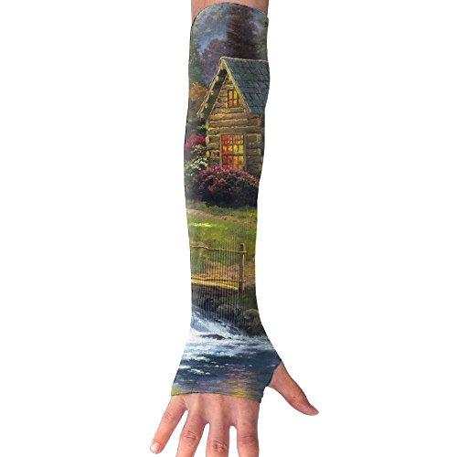 Elks Livingg In Village Of Dorset Long Half Finger Unisex Sun Arm Protection Sleeve Outdoor Gloves (Best Villages In Dorset)