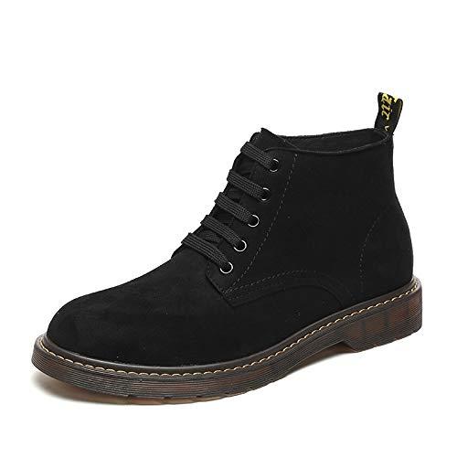 Shukun Herren Stiefel Hohe Schuhe für Herren Martin Stiefel Herrenschuhe Lässig Niedrig, um Schnee-Stiefeln zu helfen