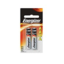 Energizer AAAA Alkaline Batteries , Pack of Two