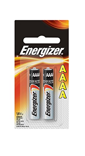 2 Batteries Alkaline Aaa (Energizer Max AAAA Size Batteries, 2-Count (Single Pack))