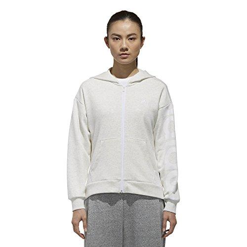 Adidas Adidas Fzjk Cappuccio Cappuccio W SW Bl white con Felpa Donna vSFqvHwP