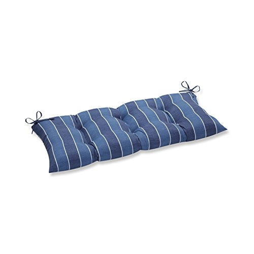 Pillow Perfect Indoor/Outdoor Wickenburg Indigo Swing/Bench Cushion