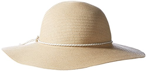 Hat Attack Cotton Hat (Hat Attack Women's Fine Braid Sun Hat with Braided Tubular Cord Trim, Natural/White, One)
