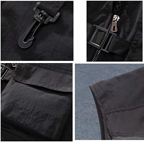 Veste Printemps Multi Poches Classic Plein Rouge Manches Loose Pour Automne Essentiel Air Outwear Sans Gilet En Hommes gZ4UTqwwp