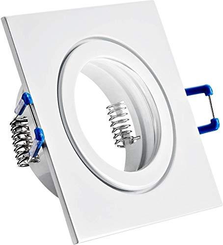 Spot IP44alluminio Faretto da incasso–Bianco Rettangolare–Con chiusura a scatto e copertura in vetro–per ambienti umidi Bad