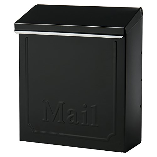 Mailbox Blk Wall (Gibraltar THVK0000 Lockable Vertical Townhouse City Mailbox, Black)
