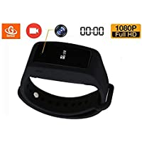 Wearble Smart Spy Camera Watch,eoqo Smart Bracelet Video Recording Camera 1080P HD with Time Stamp and Adjustable Wristband