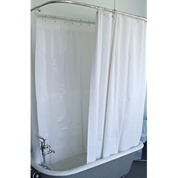 shower ring for clawfoot tub. Extra Wide Vinyl Shower Curtain for a Clawfoot Tub white with Magnets 180  X Amazon com