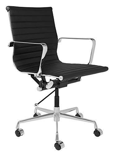Laura Davidson Furniture SOHO Ribbed Management Office Chair (Black)