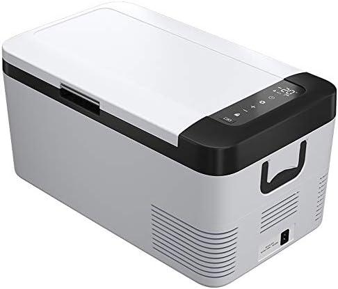 車載家庭両用 ポータブル冷蔵庫 クーラーの旅行ピクニック軽量・コンパクト搭載ポータブル飲料冷蔵庫18リットルカー冷蔵庫ACまたはDC 小型 コンパクト (色 : 白, Size : 33.5X58.5X29CM)