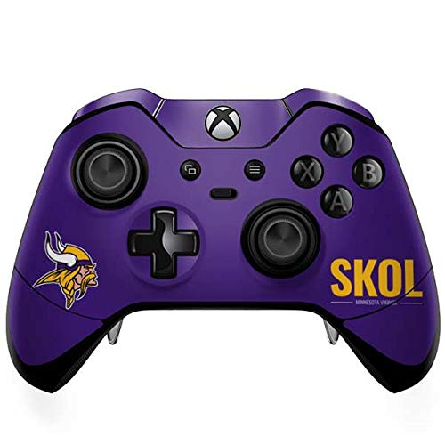 ff3dd76a63629f Skinit Minnesota Vikings Team Motto Xbox One Elite Controller Skin -  Officially Licensed NFL Gaming Decal - Ultra Thin, Lightweight Vinyl Decal  Protection