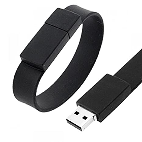 Flintstop 8  GB Wristband Pendrive  BLACK  Pen Drives