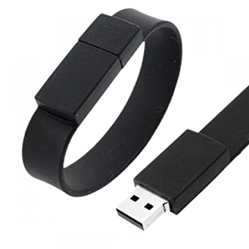 Flintstop 8   GB Wristband Pendrive  BLACK