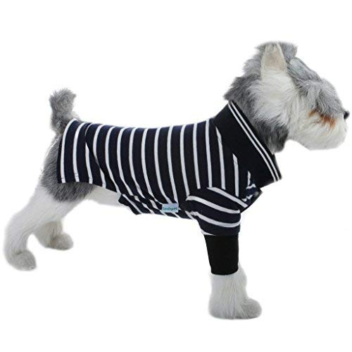 LovinPe Dog Clothes, Stripe Dogs Pajamas, Dog Apparel, Dog Polo Shirt Cotton Outdoor & Indoor Dogs Clothes Pajamas Pet…