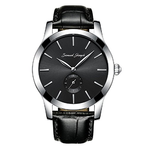 samuel-joseph-bespoke-mens-43mm-wrist-watch-with-galaxy-black-dial-steel-case-and-black-leather-band