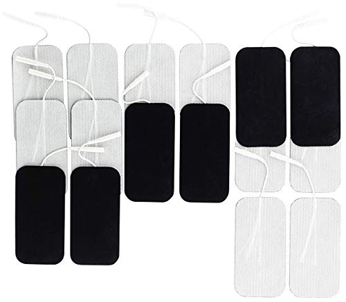 Syrtenty TENS Unit Electrodes Pads 2x4 16 Pcs Replacement Pads Electrode Patches for Electrotherapy