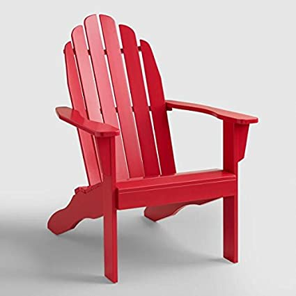 Beau Adirondack Chair Wood   Color Red