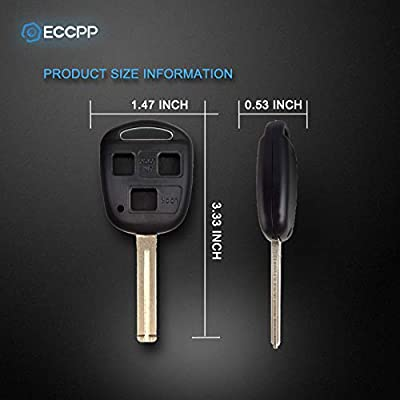 ECCPP Replacement for 1X 3 Buttons Replacement Uncut Keyless Entry Remote Control Car Key Fob Shell Case for Lexus Series HYQ1512 HYQ12BBT HYQ1288T: Automotive