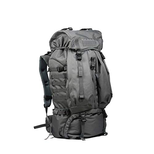 (Tongboshi Outdoor Hiking Mountain Shoulder Backpack, Men and Women Waterproof Travel Backpack Khaki, Gray, Black (Color : Gray))