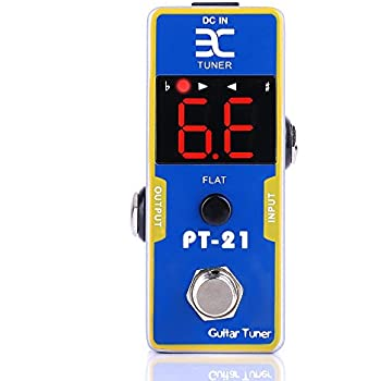 sanjune mini stage tuner pedal true bypass for guitar and bass with pitch. Black Bedroom Furniture Sets. Home Design Ideas