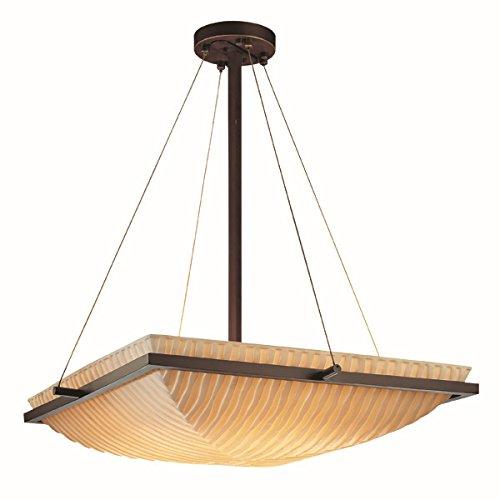 Justice Design Group Lighting PNA-9791-25-WFAL-DBRZ-LED3-3000 Porcelina-Ring 20