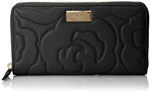 kate spade new york Sedgewick Lane Rose Sweets Wallet,Black,One Size by Kate Spade New York