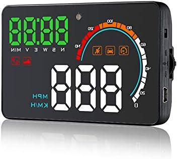 zantec Accesorios para Coche, Universal Coche GPS HUD Head Up Display, q5hud Universal Coche Vehicle GPS HUD Velocidad contachilometri