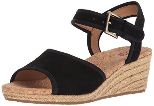 UGG Women's Maybell Wedge Sandal, Black, 6.5 M US