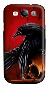 Crow Art Polycarbonate Hard Case Cover for Samsung Galaxy S3/Samsung Galaxy I9300 3D