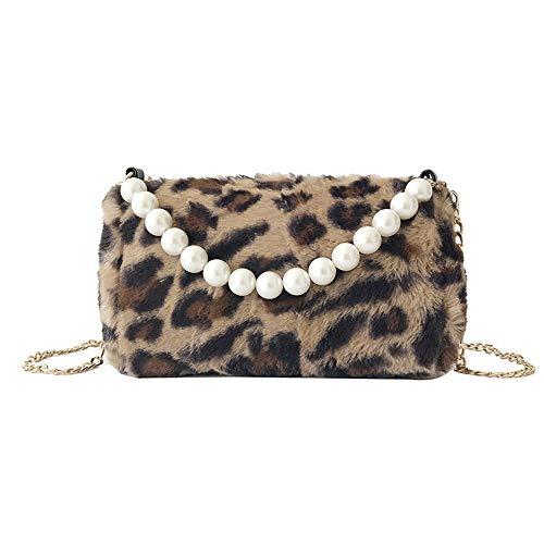(Shoulder Bag for Women Fashion Leopard Print Square Patent Letter Leather Crossbody Bag,Rakkiss )