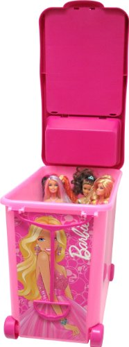 Barbie 20-Doll Store It All Portable Trunk with Handle and Wheels
