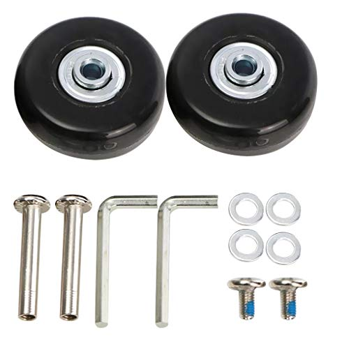 Loneflash 2PCS Luggage Wheel 5022MM Luggage Suitcase Replacement Rubber Wheel Roller Suitcase Repair