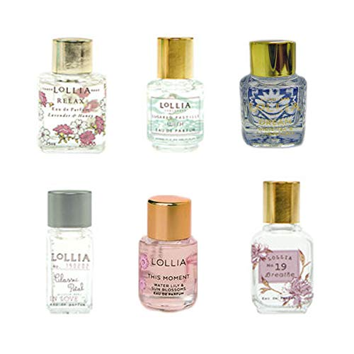 Lollia Little Luxe Eau de Parfum 6 Piece Set Now With White Gift Box Tied With Red Ribbon Bow