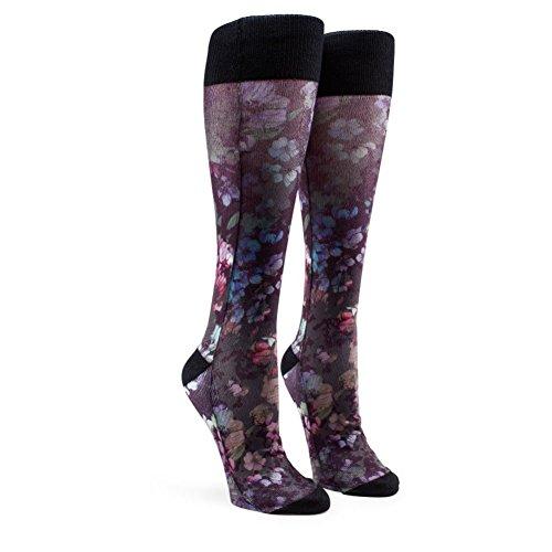 Volcom Womens Native Womens Socks Black Floral Print ML