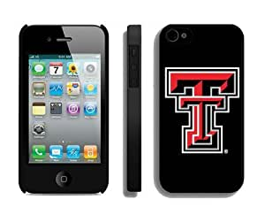 Custom Great Gift Element Apple Iphone 4/4s Case Amazing Design Phone Protective Cover Texas Tech Red Raiders 8