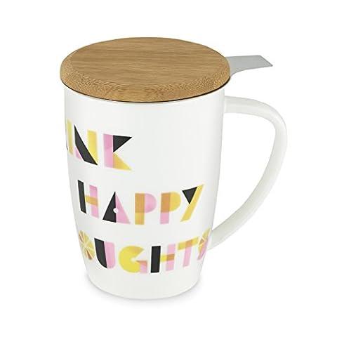 Bailey Ceramic Tea Mug & Infuser by Pinky Up (Drink Happy)