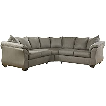 Amazon Com Red Upholstery Fabric Sectional By Ashley
