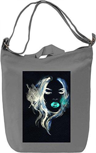 Woman Face Borsa Giornaliera Canvas Canvas Day Bag| 100% Premium Cotton Canvas| DTG Printing|