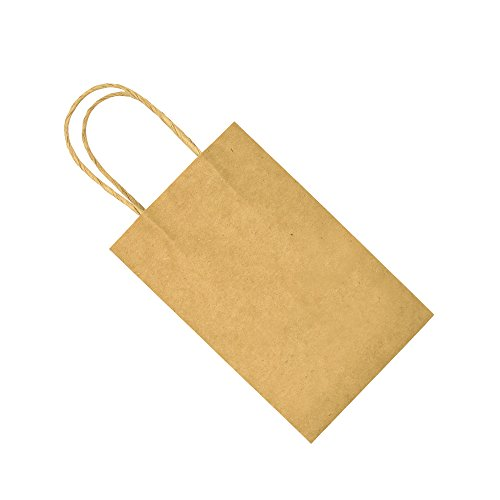 Bagmad Thicker Paper 50 Count 10x5x13, Large Kraft Paper Shopping Bags with Handles,Gift Natural Party Retail Craft Brown Bags,50PCS by Bagmad (Image #7)'