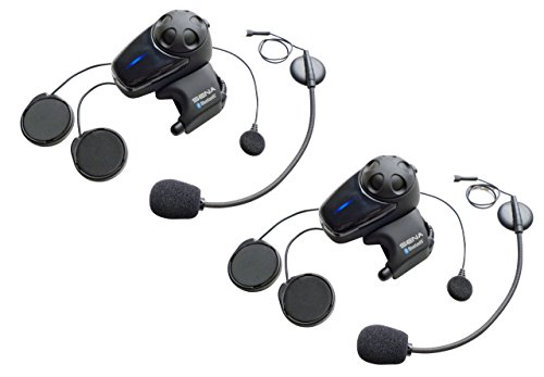 Sena SMH10-11 Motorcycle Bluetooth Headset / Intercom with Universal Microphone Kit (Single) ()