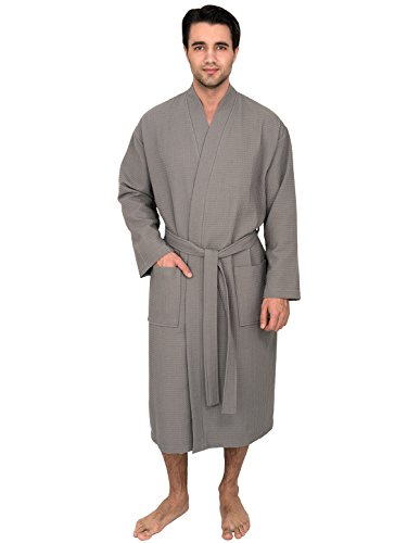 TowelSelections Men's Robe, Kimono Waffle Spa Bathrobe for sale  Delivered anywhere in USA
