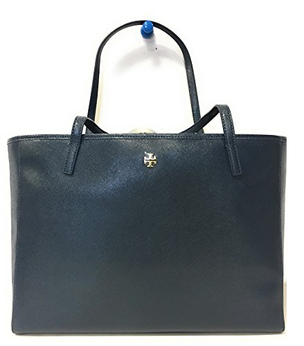 Tory Burch 36541 417 Caitlin Patent Tote Hudson Bay Navy ...