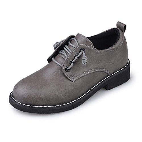 primavera zapatos de señora/Zapatos de tacón grueso estilo British Academy/Zapatos de mujer vintage B