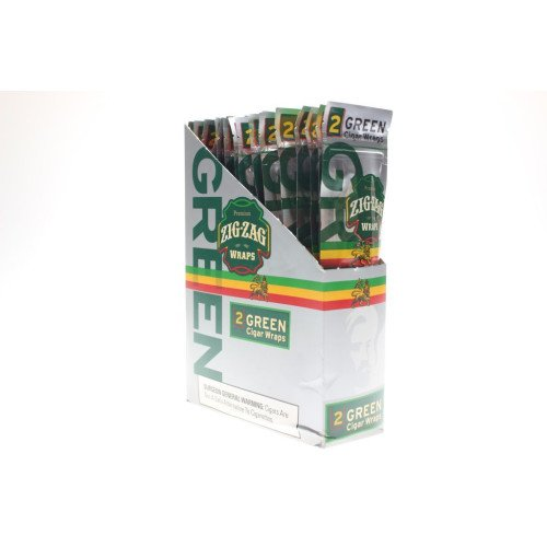 2 PER PACK GREEN FLAVOR PACK OF 25 (Royal Blunts Wraps)
