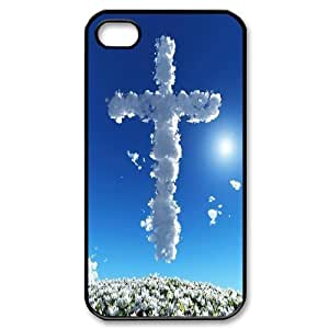 J-LV-F Customized Print Jesus Christ Cross Pattern Back Case for iPhone 4/4S