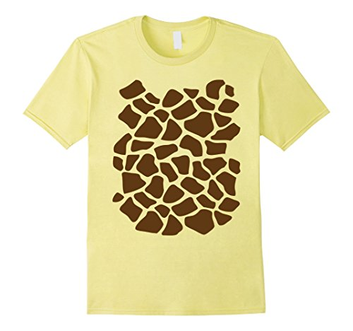 Mens Giraffe Print Shirt, Simple Halloween Costume Idea Gift Small Lemon