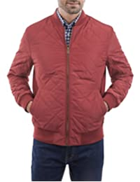 Chamarra Quilted Bomber Vino