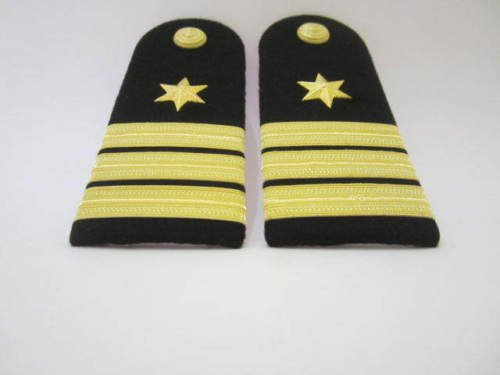 Atlantic Maritime -Marine Navy Naval Ship Caption/Officer 3 Silver Strips Shoulder Board/Epaulettes from Atlantic